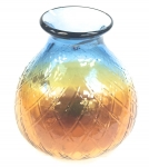 Glass Vase Blue/Yellow