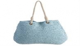 21x16 Handwoven Tote - Blue