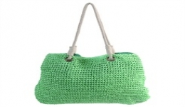21x16 Handwoven Tote - Green