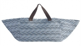 15x16 Recycled Woven Tote - Blue