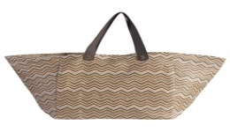 15x16 Recycled Woven Tote - Brown