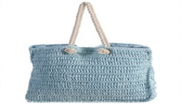18x14 Hand Woven Tote - Blue