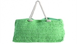 18x14 Hand Woven Tote - Green