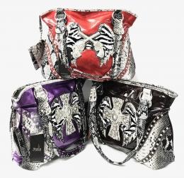 Fashion Handbag With Cross Asst