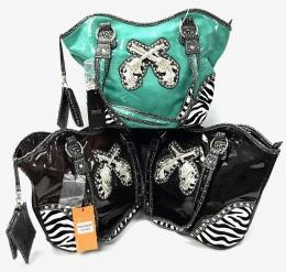 Fashion Handbag With Gun Asst