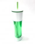 (0017494) White Top Tumbler 24 Oz - Green/White