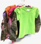 2Fer Puffy Long Sleeve Tee Asst - Toddler