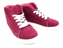 Kids Hightop Sneaker Fuscia/White