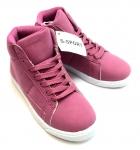 Kids Hightop Sneaker Pink/White
