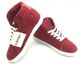 Kids Hightop Sneaker Red/White
