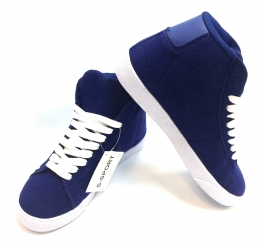 Womens Hightop Sneaker Blue/White