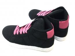 Womens Hightop Sneaker Black/Pink