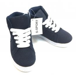 Womens Hightop Sneaker Navy/White
