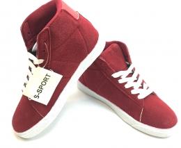 Womens Hightop Sneaker Red/White