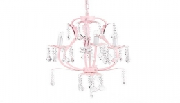 3 Light Chandelier Pink