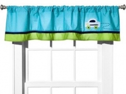 Zutano Blue Traffic Valance