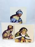 Set Three Kings Wall Plaques