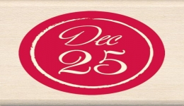 Inkadinkado Dec. 25th Wood Stamp