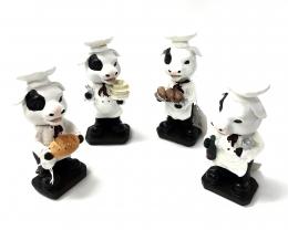 Bobble Head Cow Chef 4/A