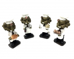 Bobble Head Elephant Chef Figurine 4/A