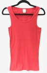 Womans Rib Tank Top - Red