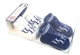 Boxed 2 Pk Baby Socks w/Grippers - Kentucky