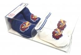 Boxed 2 Pk Baby Socks w/Grippers - Kansas