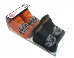 Boxed 2 Pk Baby Socks w/Grippers - Oklahoma State