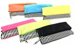 Magnetic Stripe Folding Clutch Asst