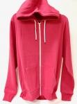 Full Zip Hooded Sweatshirt Red