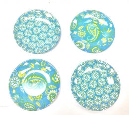 Set/4 Blue/Green Paisley 6