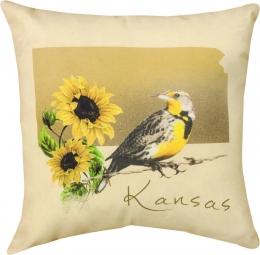 Kansas Western Meadowlark Pillow