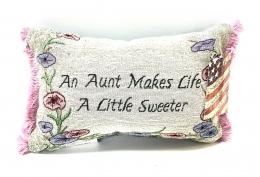 Aunt Makes Life Pillow 18x12