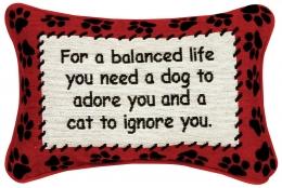 For a Balanced Life Pillow 8x12