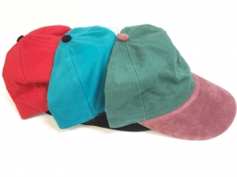Cap Brushed Canvas Suede Peak