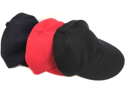 Cap Wool W/Leather Strap - YOUTH