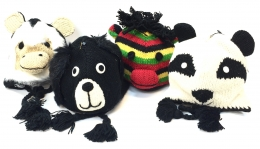 Wool Animal Hats w/Microfiber Lining