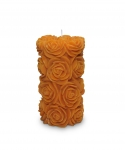 Flora Medium Pillar Candle Orange