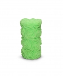 Flora Medium Pillar Candle Lime