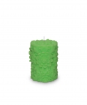 Dendritic Small Pillar Candle Lime
