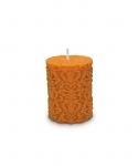 Paramount Small Pillar Candle Orange