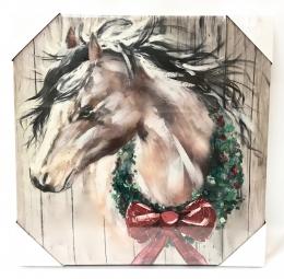 Christmas Horse Print