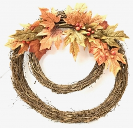 Double Ring Harvest Wreath
