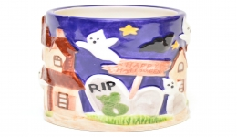 Halloween Ceramic Haunted House Cup