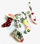 Playful Clay Collection - Set/4 Christmas Boots