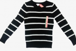 Merona Ebony Stripe Sweater