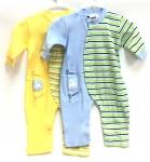 (IBWL502) Cotton Jumpsuit Blue/Yellow 2/A